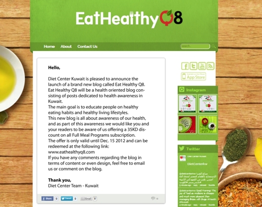 Eat Healthy Q8 Blog